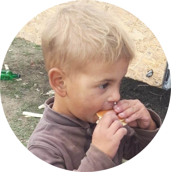 Giving Tuesday: boy eating