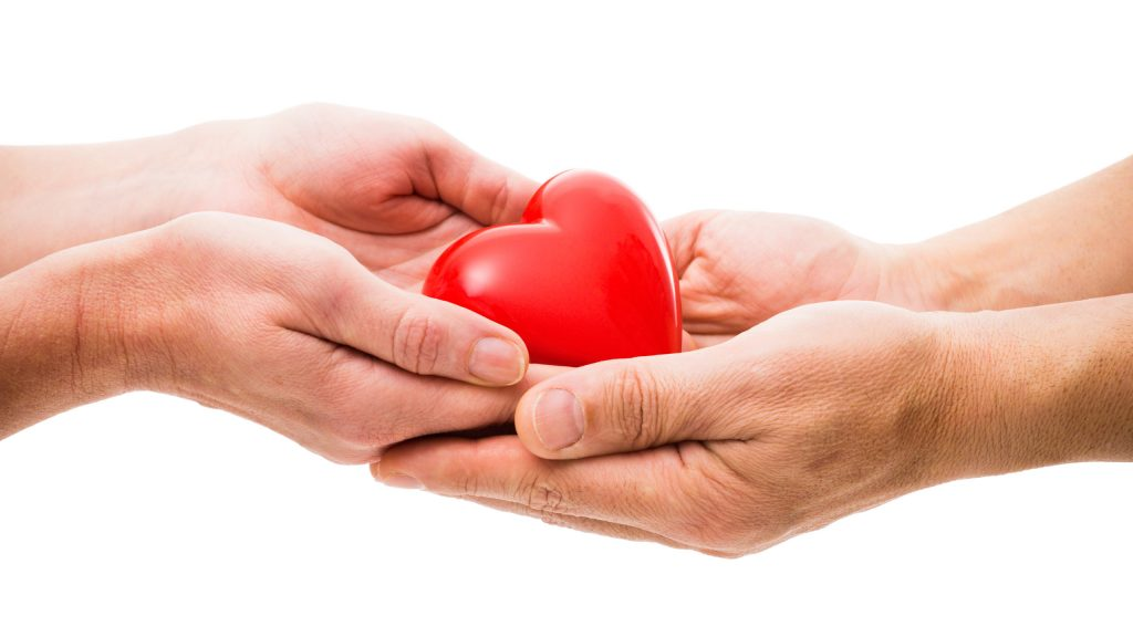 Helping hands with heart