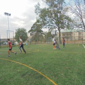 Outdoor soccer field