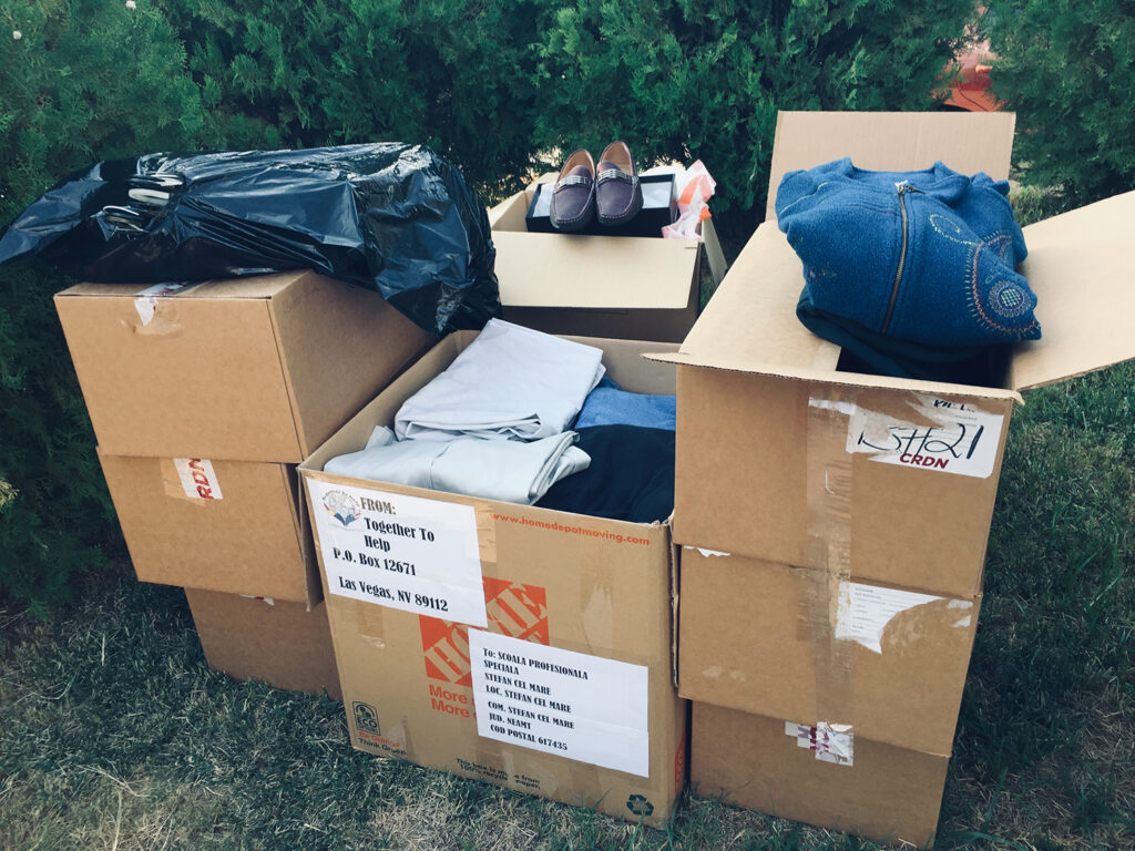 Help the children: clothing donations