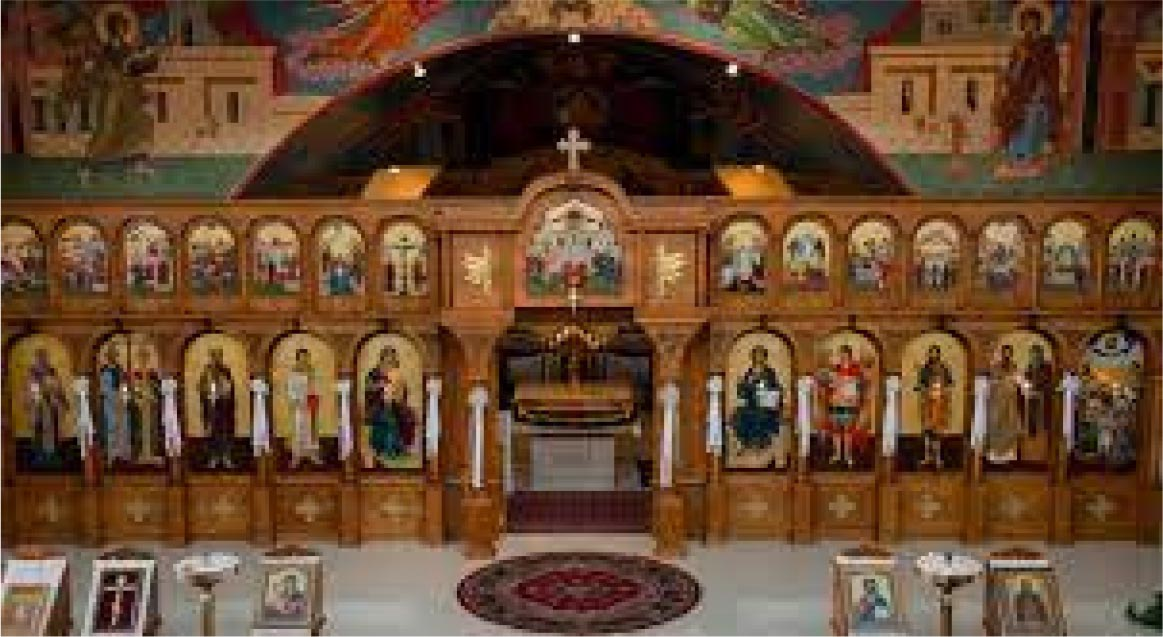 The inside of the Orthodox church